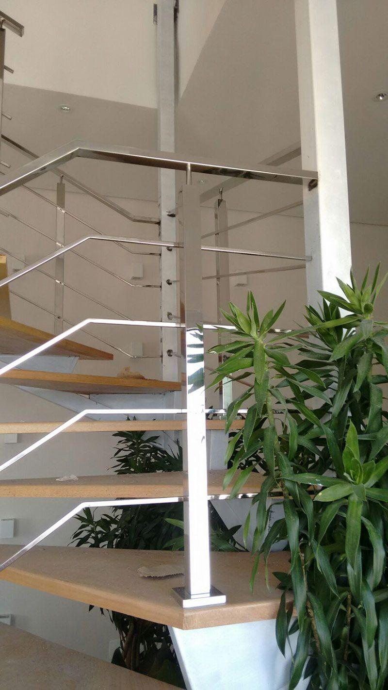 Stainless steel handrail: see tips and 60 models with photos 7