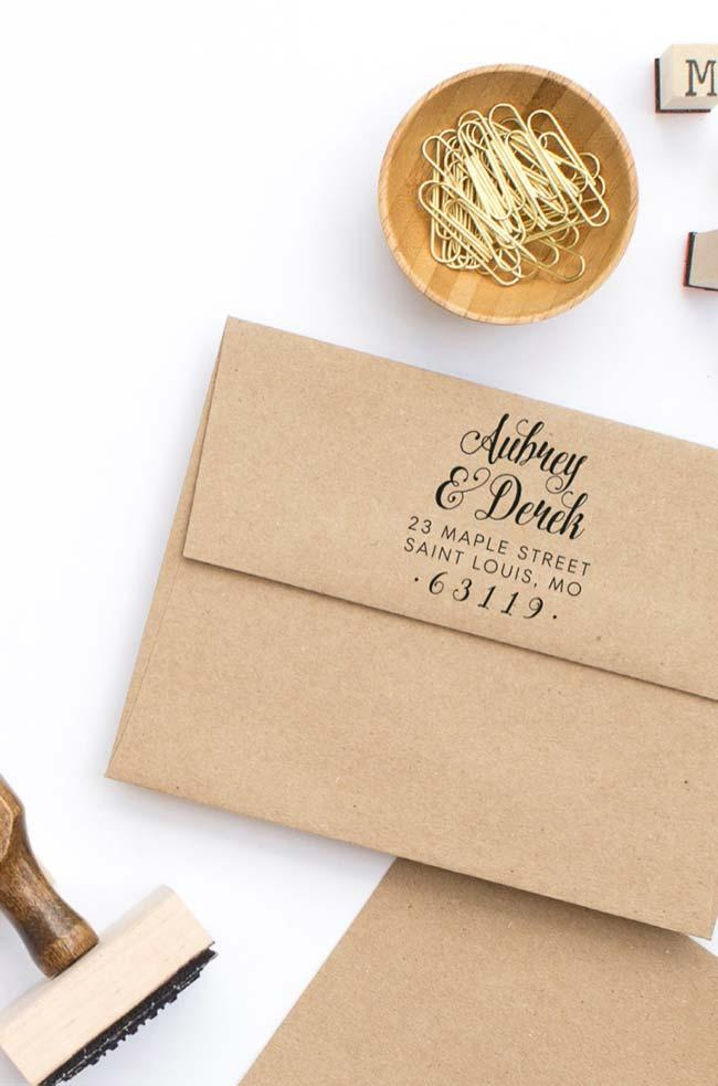 Personalized stamp for invitations
