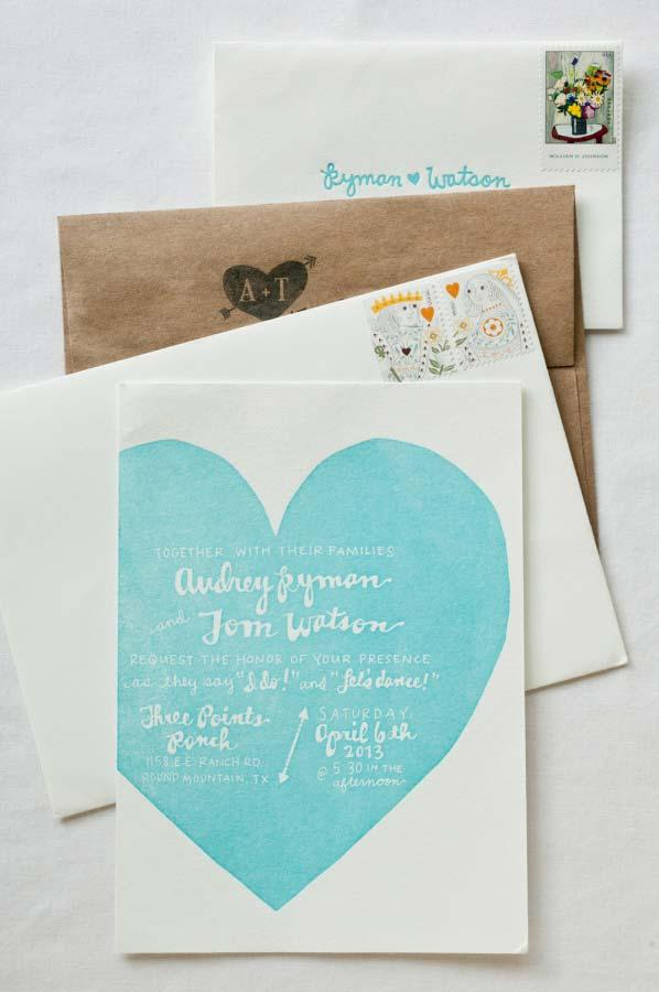 Template for wedding invitation to send by mail