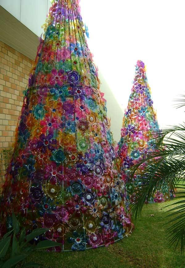 PET Bottle Christmas Tree: 40 ideas and step by step 6
