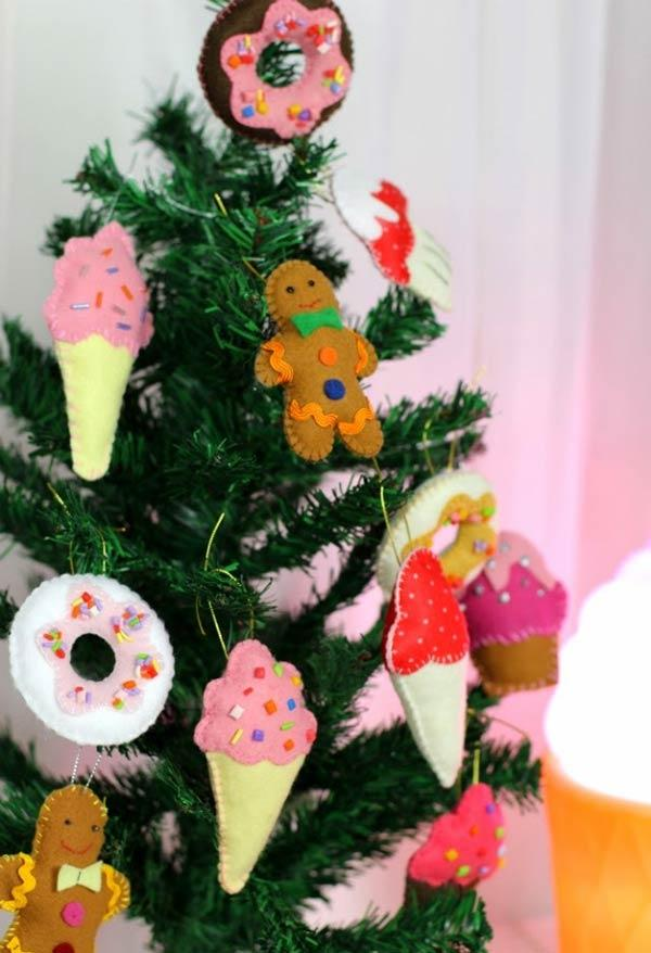 Christmas ornaments in felt: ideas to use in decoration 5