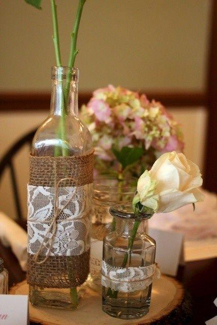 Table Top with Bottle: see beautiful ideas to decorate the table 13
