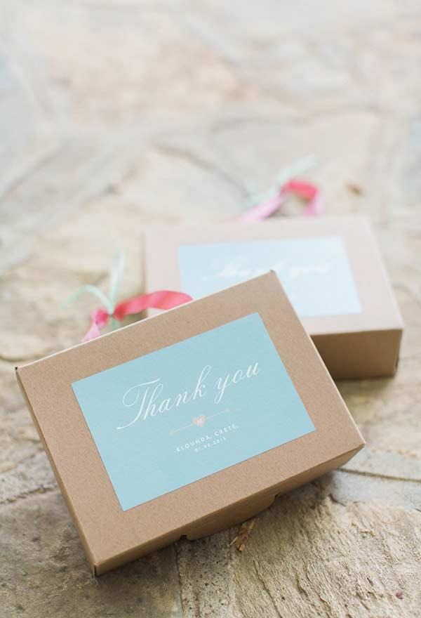 Gift Box Details With Blue Tiffany