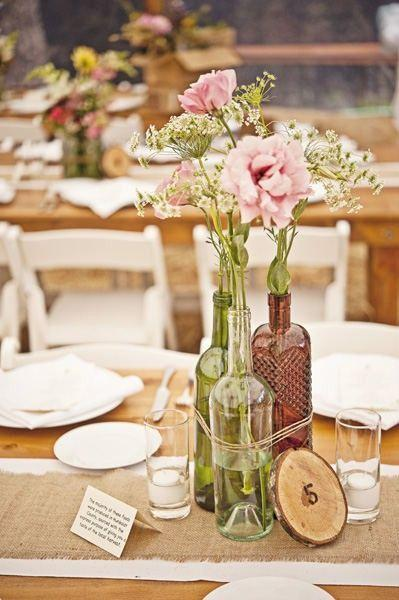 Table Top with Bottle: See beautiful ideas to decorate the table 1