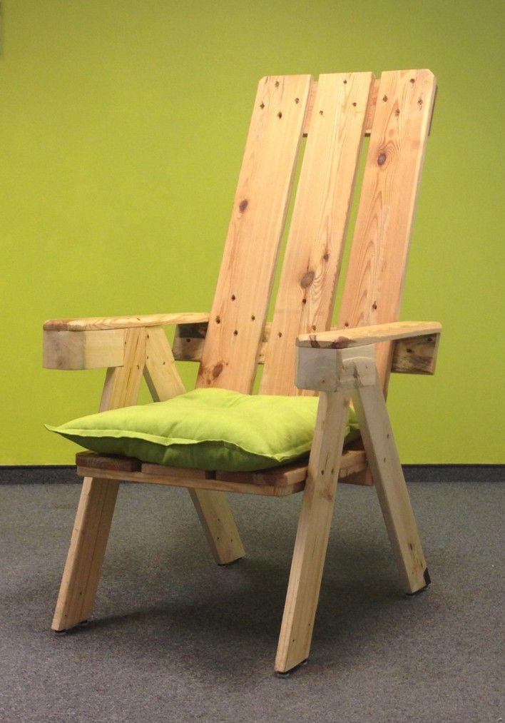 Cushion for pallet armchair
