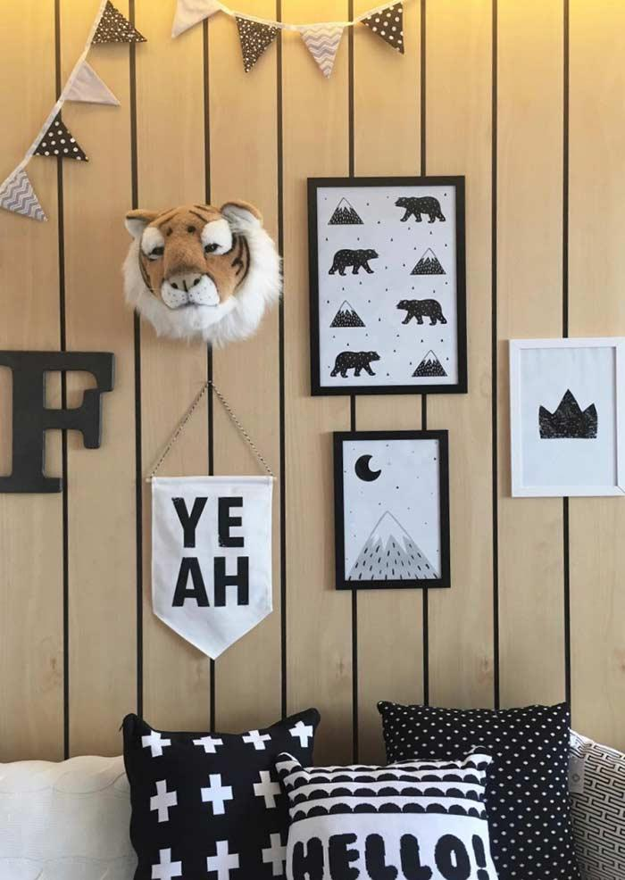 Elements of nature to decorate children's rooms