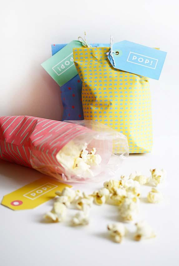 Popcorn sacks as souvenirs for 15 years