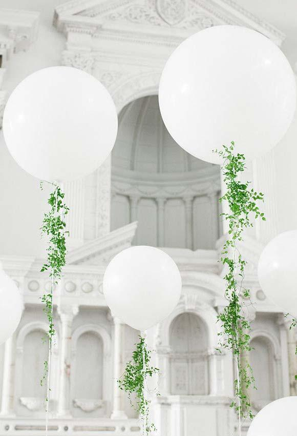 Beautiful church decoration with focus on the white