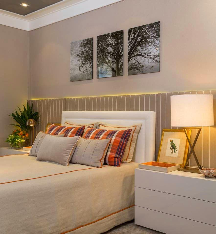 Upholstered headboard: 60 ideas and references to use in the decoration 5