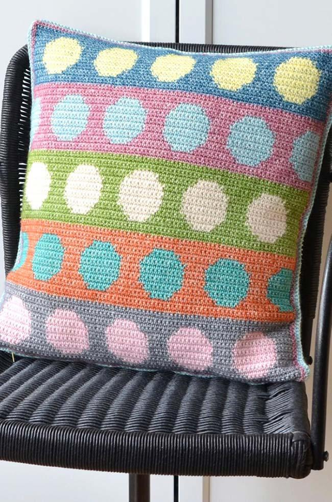 Cheerful and Fun Crochet Cushion Cover