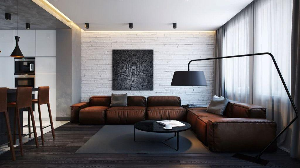 Leather sofa: 70 incredible models to decorate environments 26