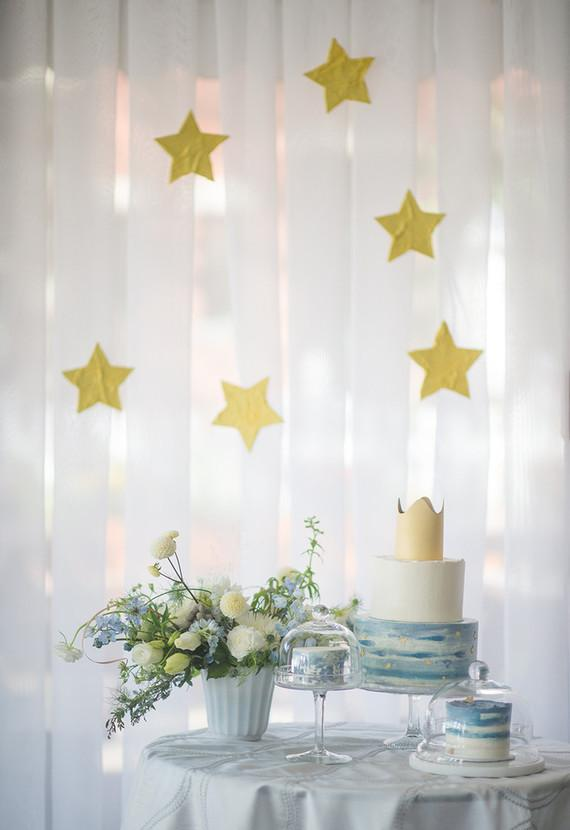 Minimalist style with curtain of stars