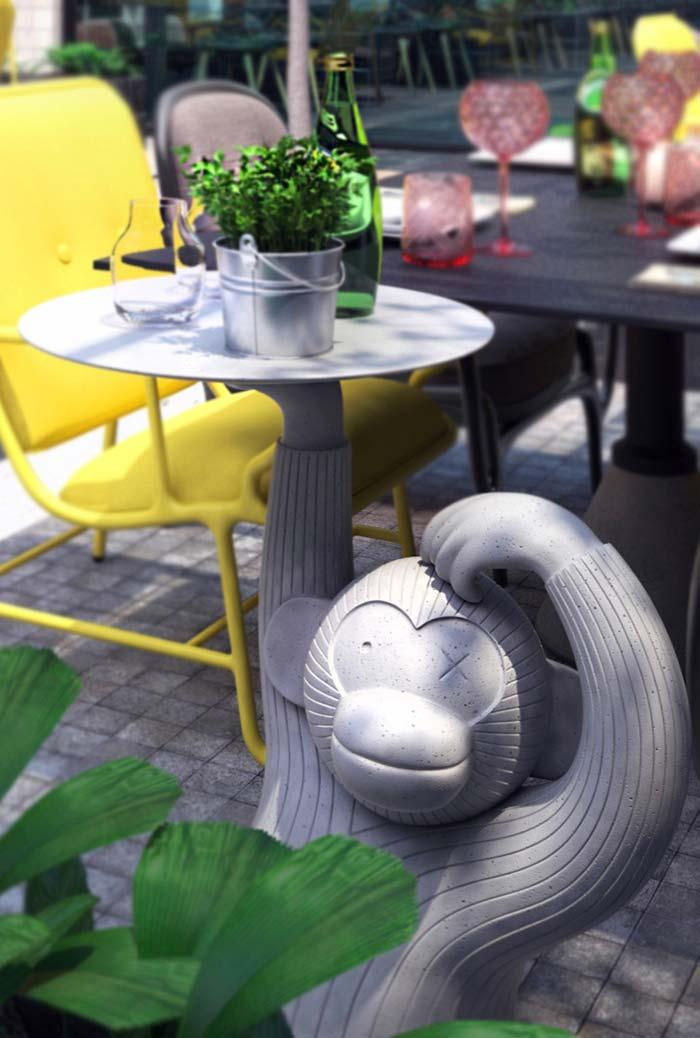 Super creative and playful backyard table