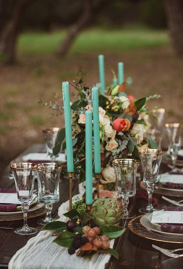 Tiffany Blue in a more romantic decor