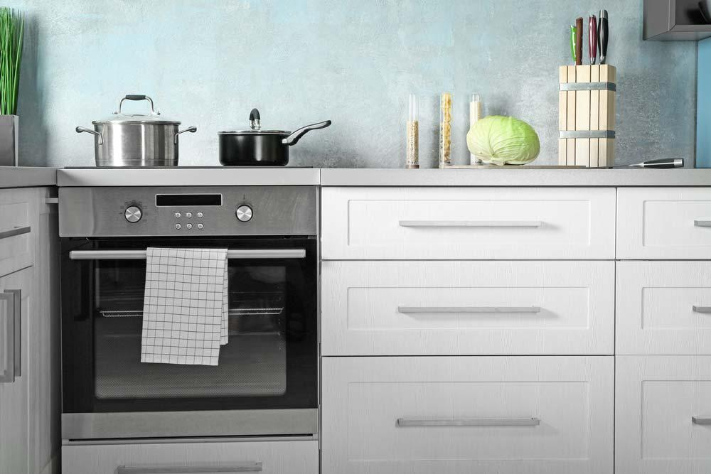 Oven in the kitchen
