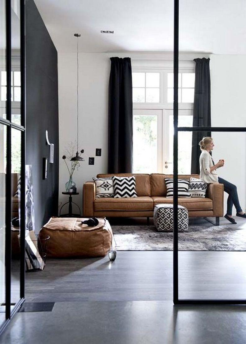 Leather sofa: 70 incredible models to decorate environments 36