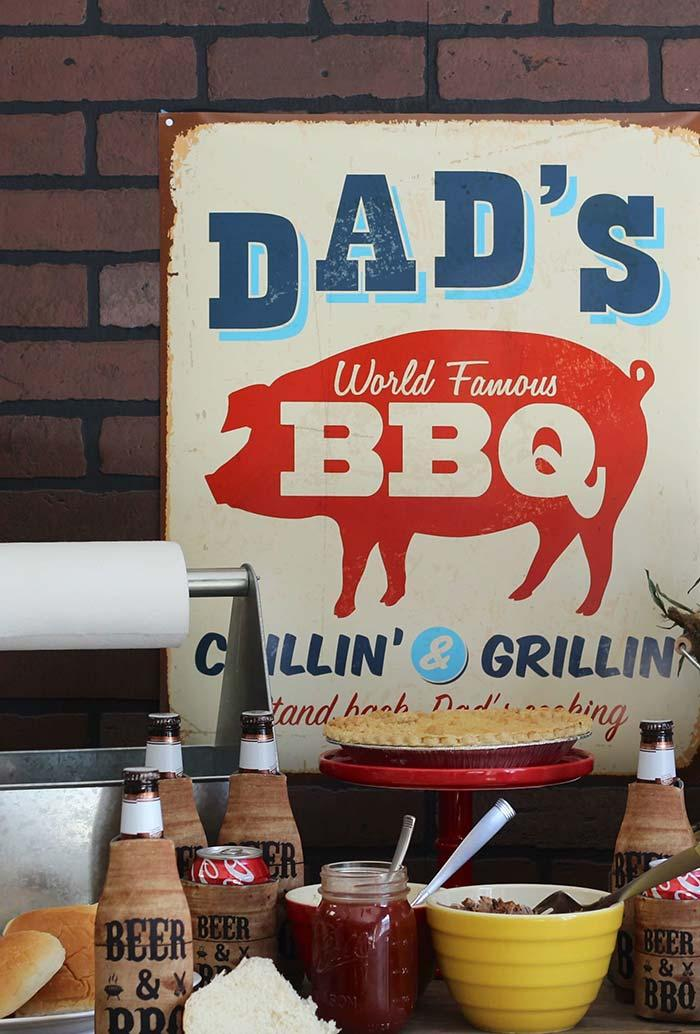 Vintage plaque with barbecue theme