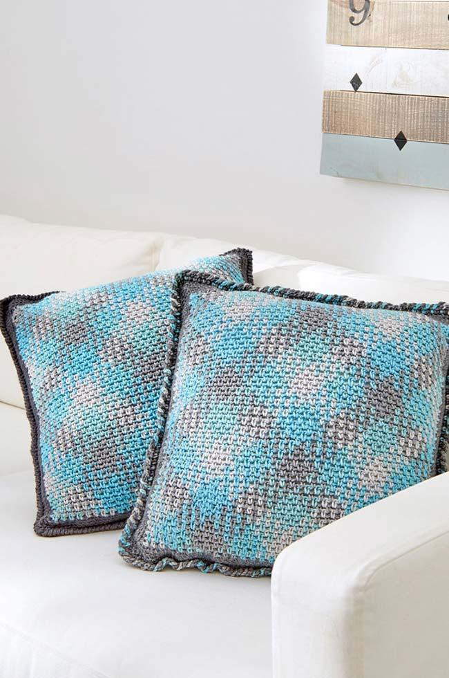 Modern Crochet Cushion Cover
