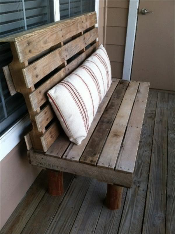 Bench style pallet sofa