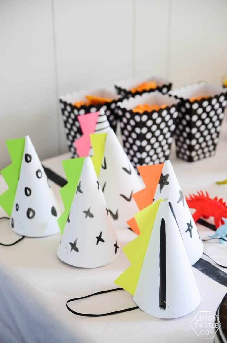 White hats for children's simple party