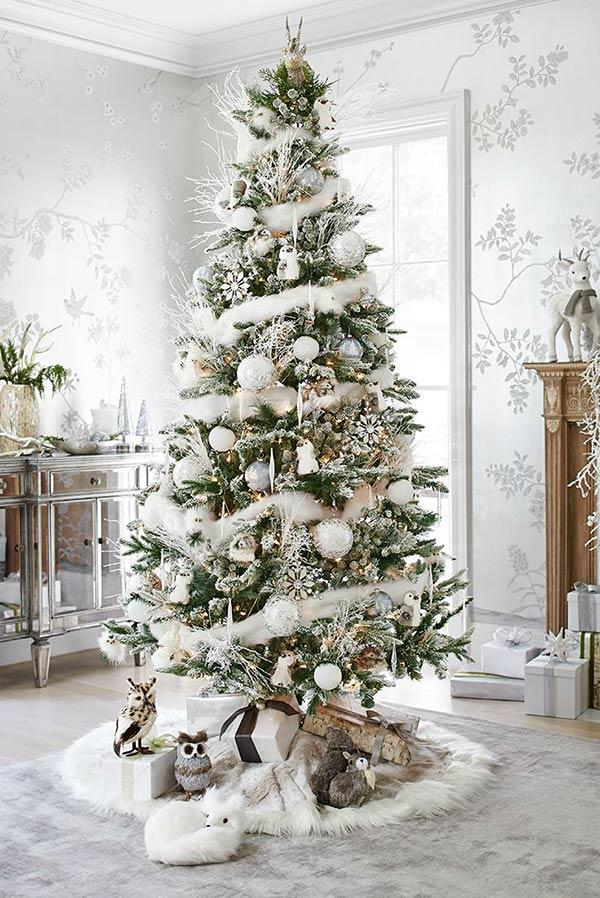 Use a traditional tree to add white.