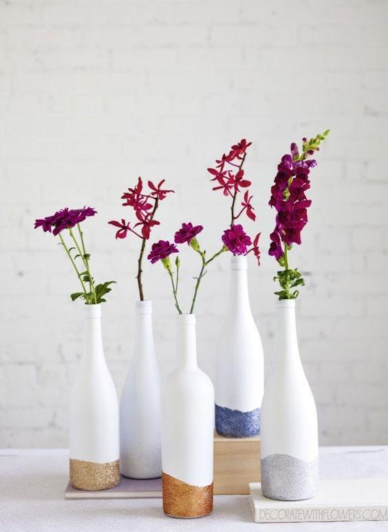 Table Top with Bottle: see beautiful ideas to decorate the table 10