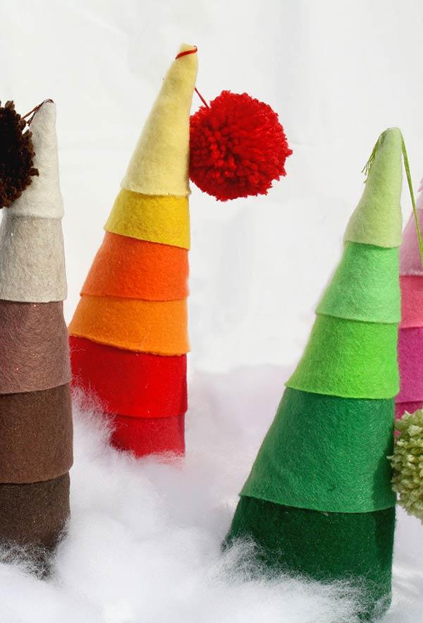 Cones-tree on felt.