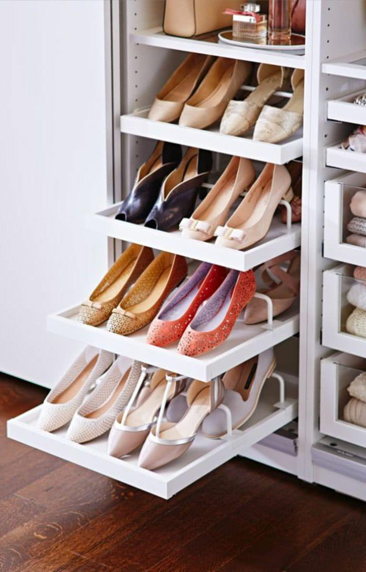 60 ideas and tips on how to organize shoes 7