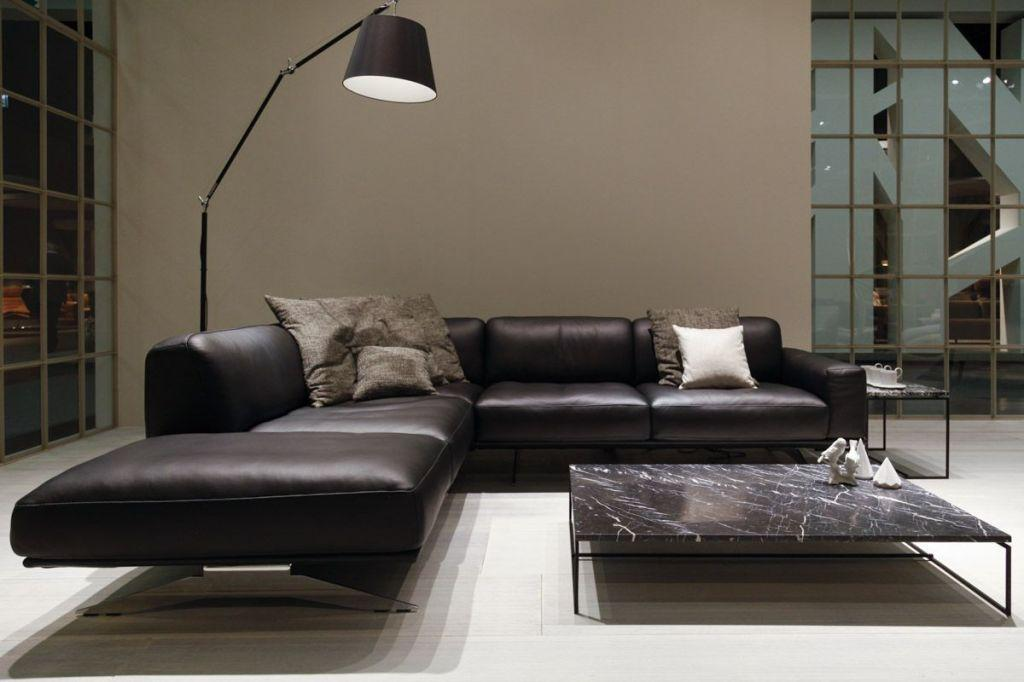 Leather sofa: 70 incredible models to decorate environments 32