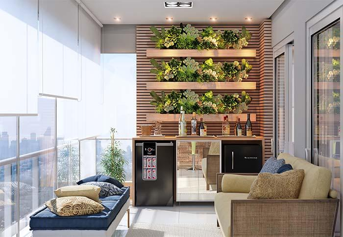 Apartment decorated with vertical garden