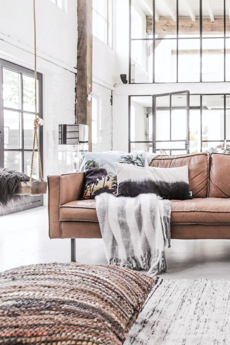 Leather sofa: 70 amazing models to decorate environments 52