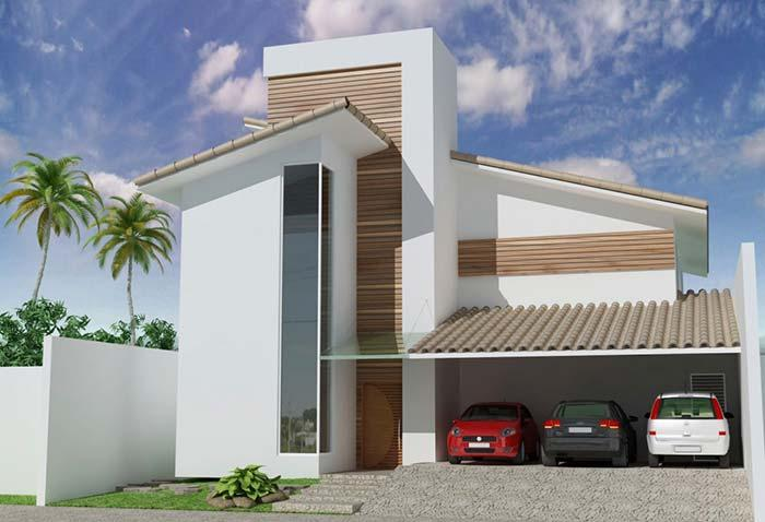 Modern house with PVC roof