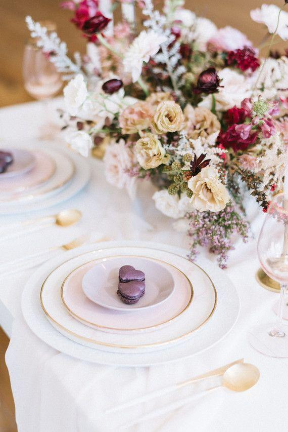 Flowers complement the table decoration put