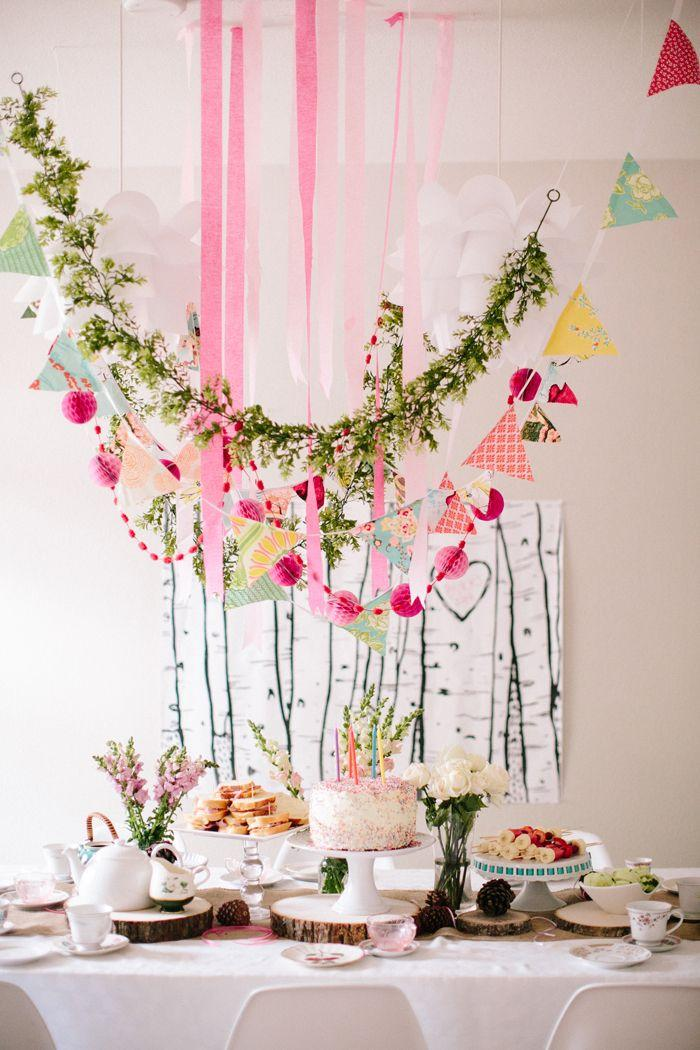 Flowers mark the celebration of this baby shower