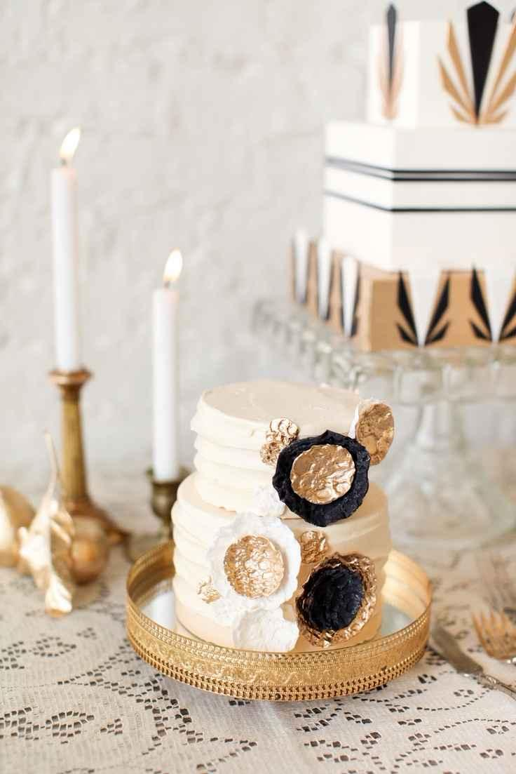 Golden wedding decoration: 60 ideas with photos to inspire 5