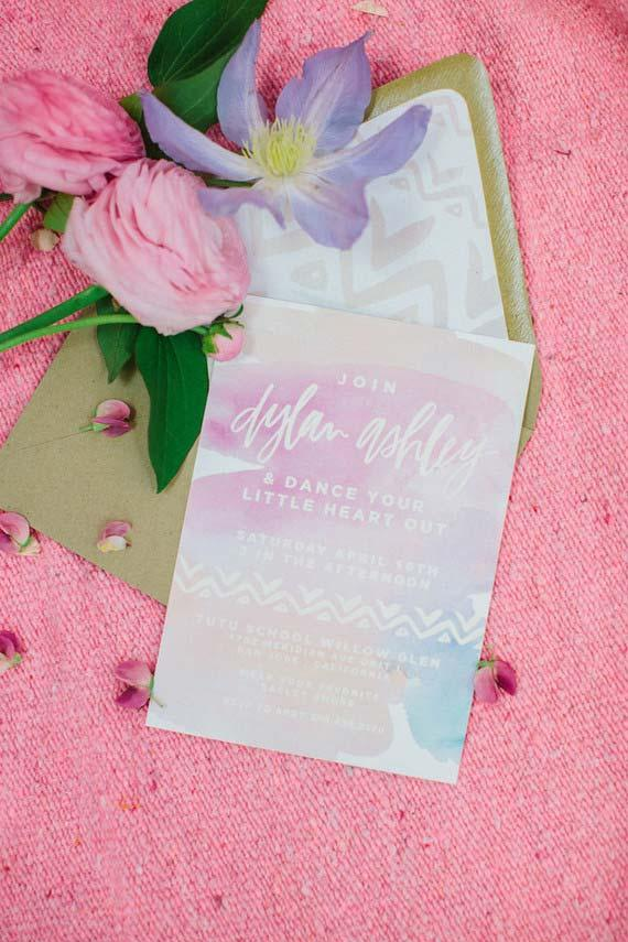 Delicate invitation for party of 15 years