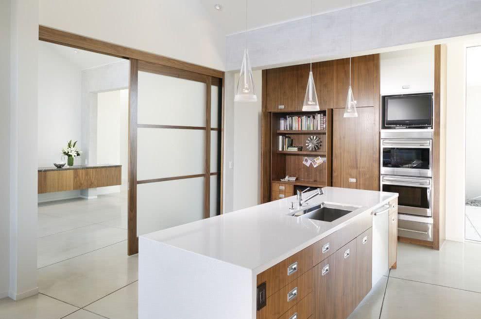 Sliding door: advantages of using and projects with photos 5