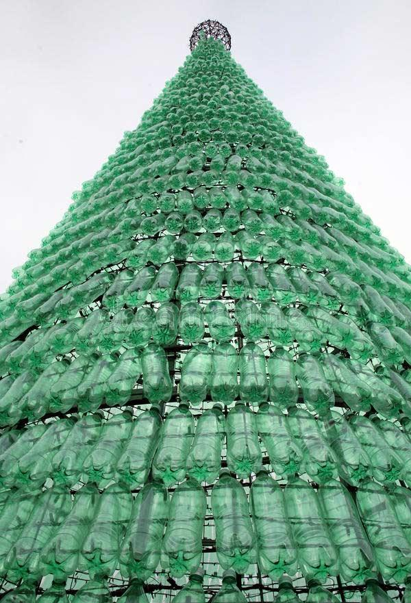 A GIANT structure for a tree with PET bottle