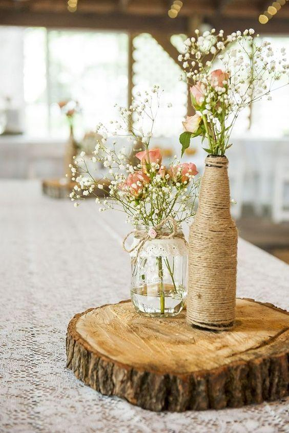 Table Decoration with Bottle: see beautiful ideas to decorate the table 5