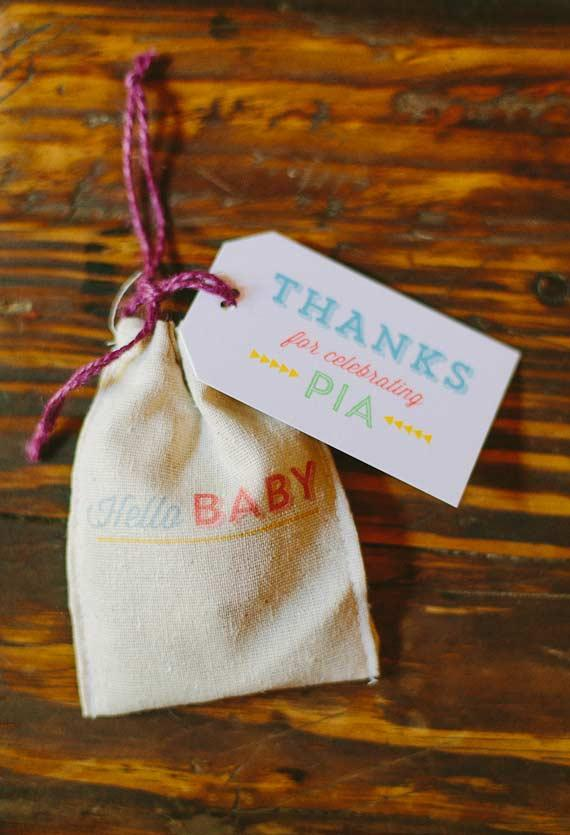Simple sachet as baby shower souvenir
