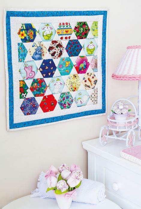 Decorative frame with patchwork