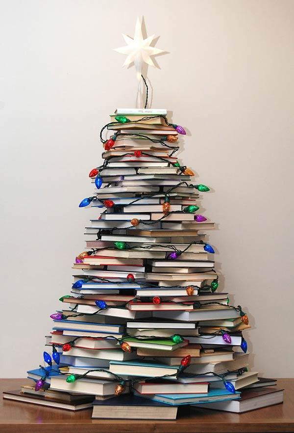 Form a creative tree with books