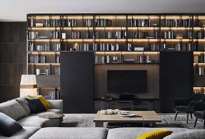 Modern decoration with books