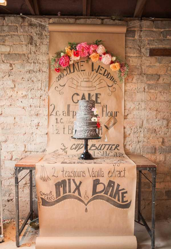 Chalkboard cake for engagement