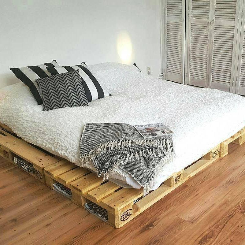 Pallet bed: 60 models, photos and walkthrough 49