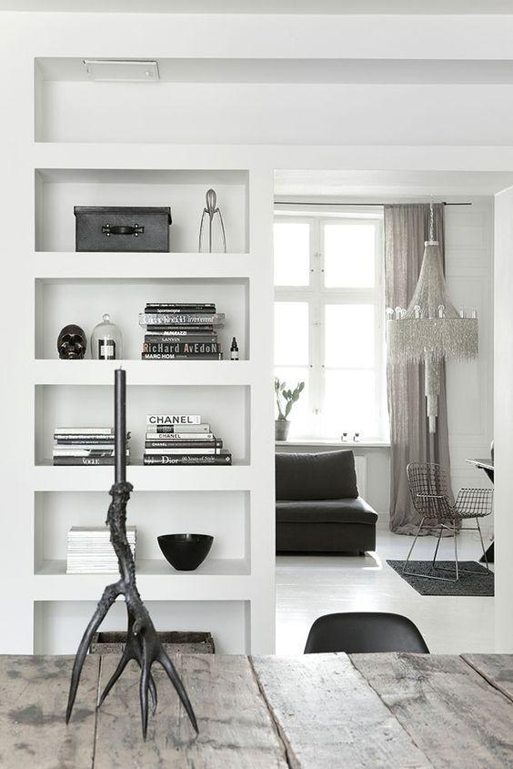 Plaster shelf: advantages and 60 projects to inspire 49