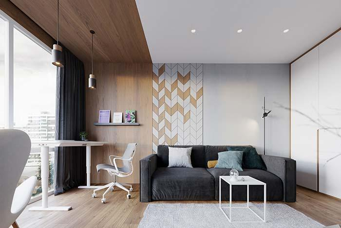 Woody tone in decorated apartment decor