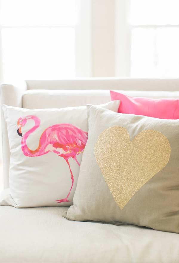 A little color and personality for the cushions