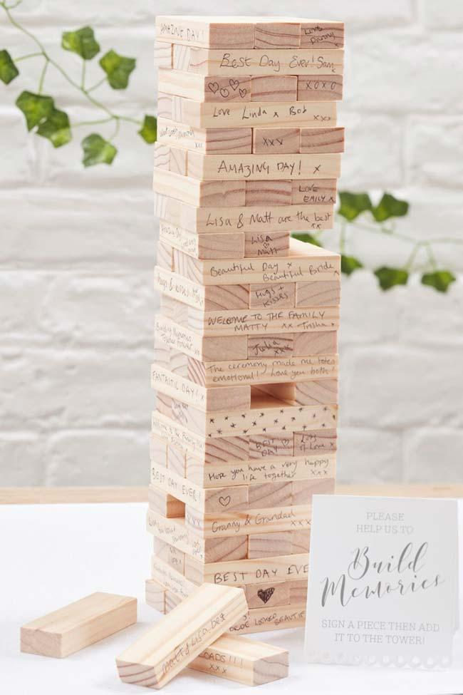 Tower scrapbook in wedding decoration 2018