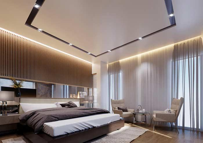 Ceiling decorated with plaster: trend for 2018